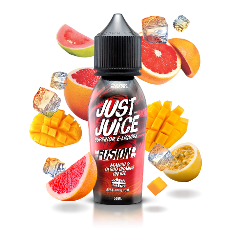 Fusion Mango & Blood Orange on Ice by Just Juice